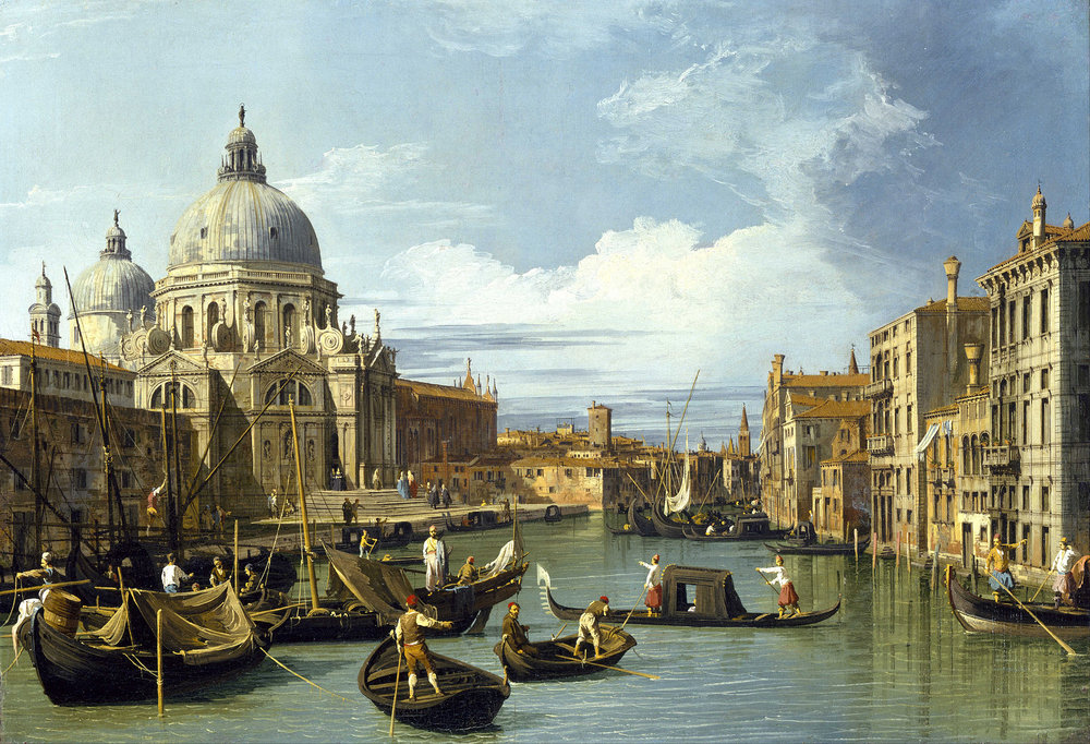 The Entrance to the Grand Canal, Venice  by Canaletto (c. 1730). Museum of Fine Arts (Houston, TX).