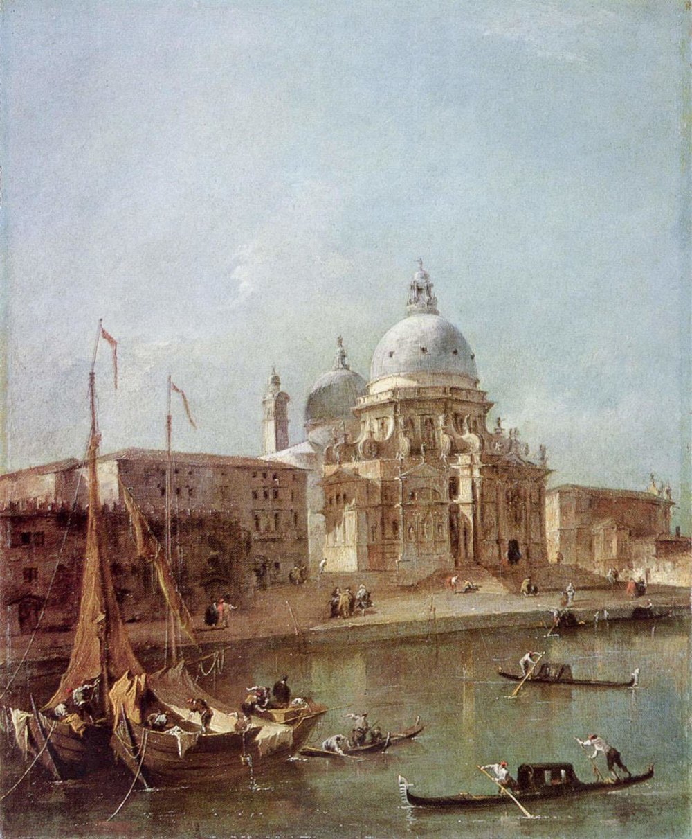 Santa Maria della Salute    by Francesco Guardi (c. 1770). Scottish National Gallery (Edinburgh, UK).