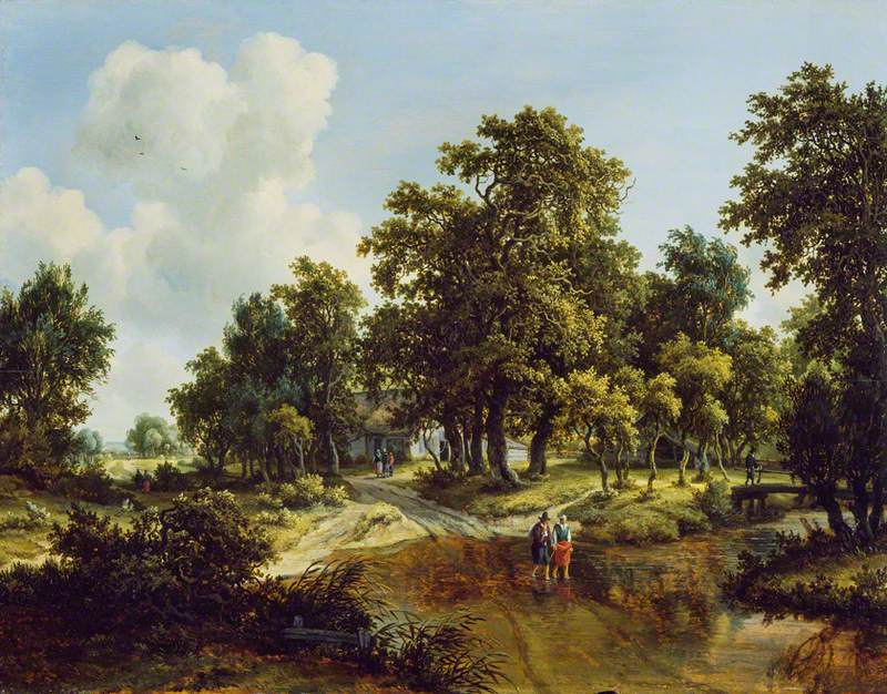 Outskirts of a Wood    by Meindert Hobbema (c.1665). The Wallace Collection (London, UK).
