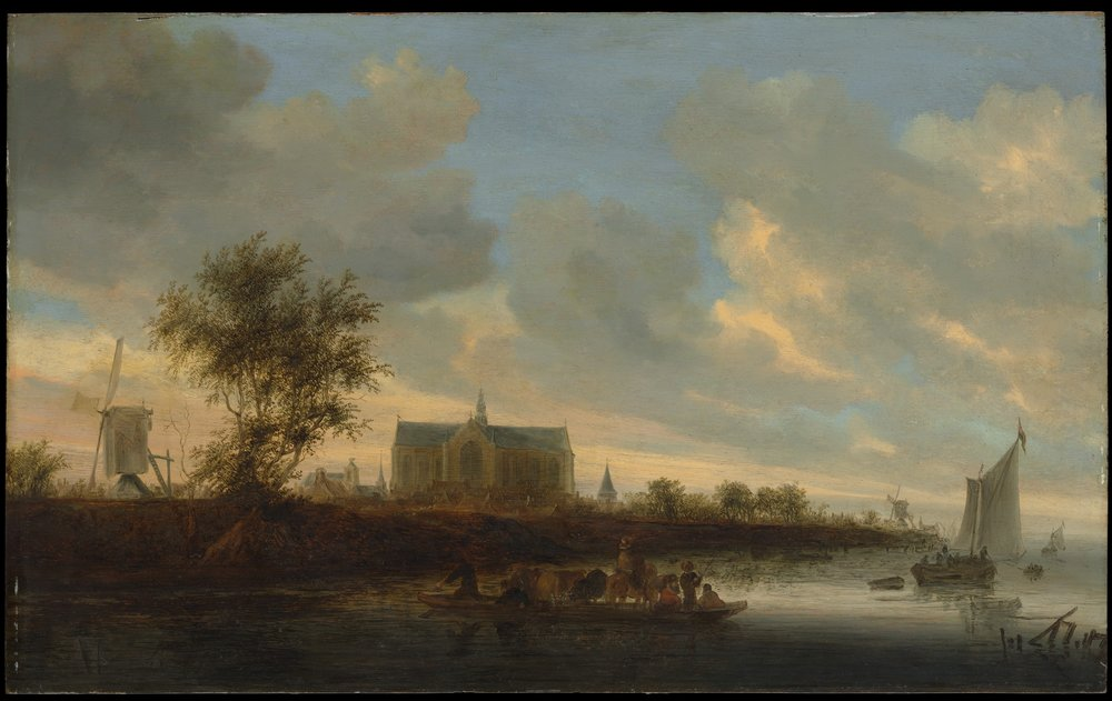 View of the Town of Alkmaar    (c. 1650s) by Salomon van Ruisdael. The Metropolitan Museum of Art (New York, NY).