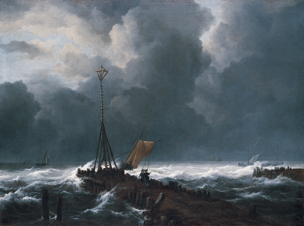 Rough Sea at a Jetty    (c. 1650s) by Jacob van Ruisdael. Kimbell Art Museum (Fort Worth, TX).