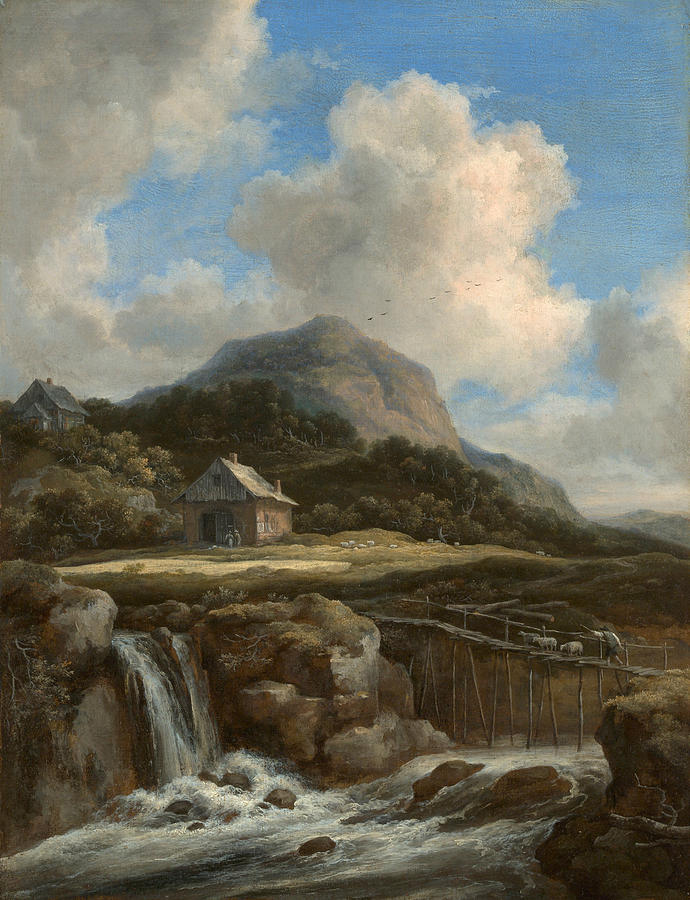 Mountain Torrent    (1670s) by Jacob van Ruisdael. The Metropolitan Museum of Art (New York, NY).