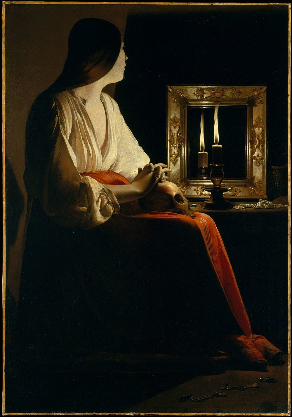 The Penitent Magdalene    (c. 1640) by Georges de la Tour. The Metropolitan Museum of Art (New York, NY).