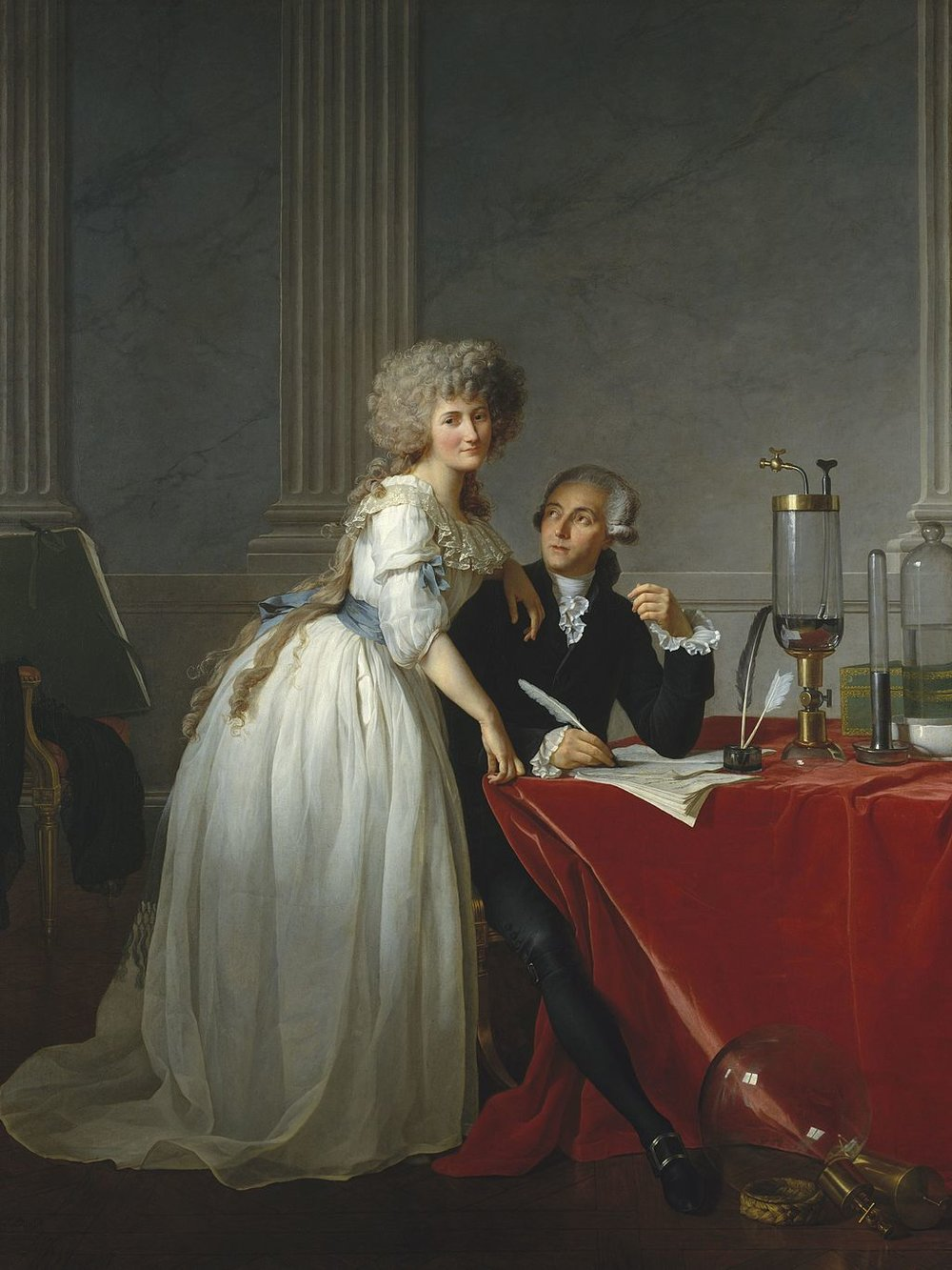Portrait of Antoine-Laurent Lavoisier and his Wife    (1788) by Jacques Louis-David. The Metropolitan Museum of Art (New York, NY).