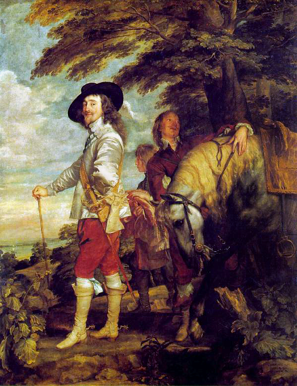 Charles I at the Hunt    (c. 1635) by Anthony van Dyck. The Louvre (Paris, France).