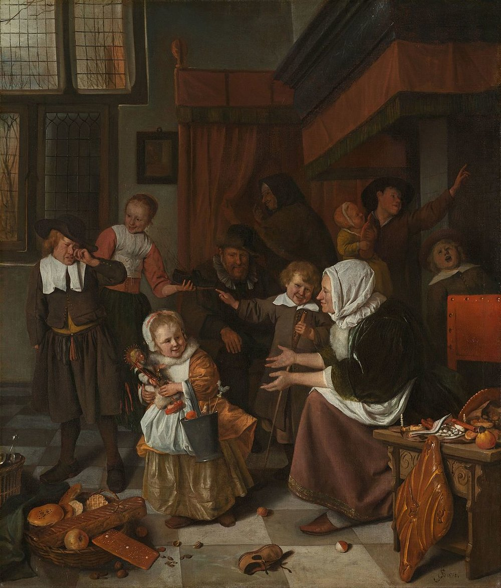 The Feast of Saint Nicholas (c. 1665-1668) by Jan Steen. Rijksmuseum (Amsterdam, The Netherlands).