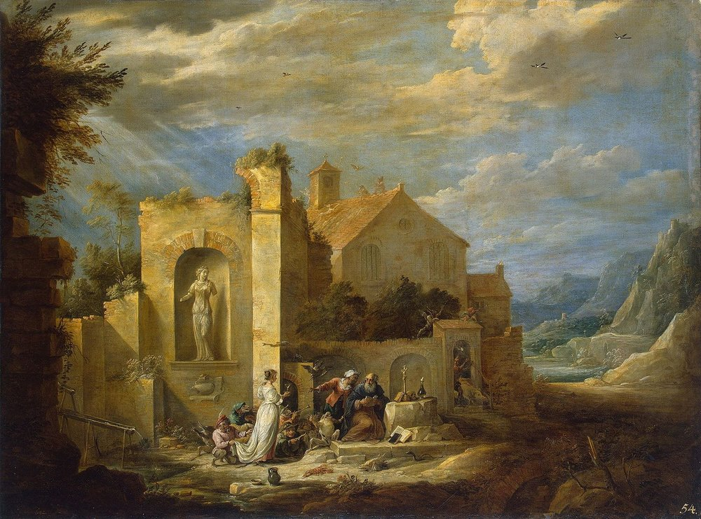 The Temptation of St. Anthony (c. 1650) by David Teniers the Younger. The Hermitage (St. Petersburg, Russia).