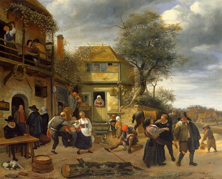 Peasants Before an Inn    (1653) by Jan Steen. Toledo Museum of Art (Toledo, OH).