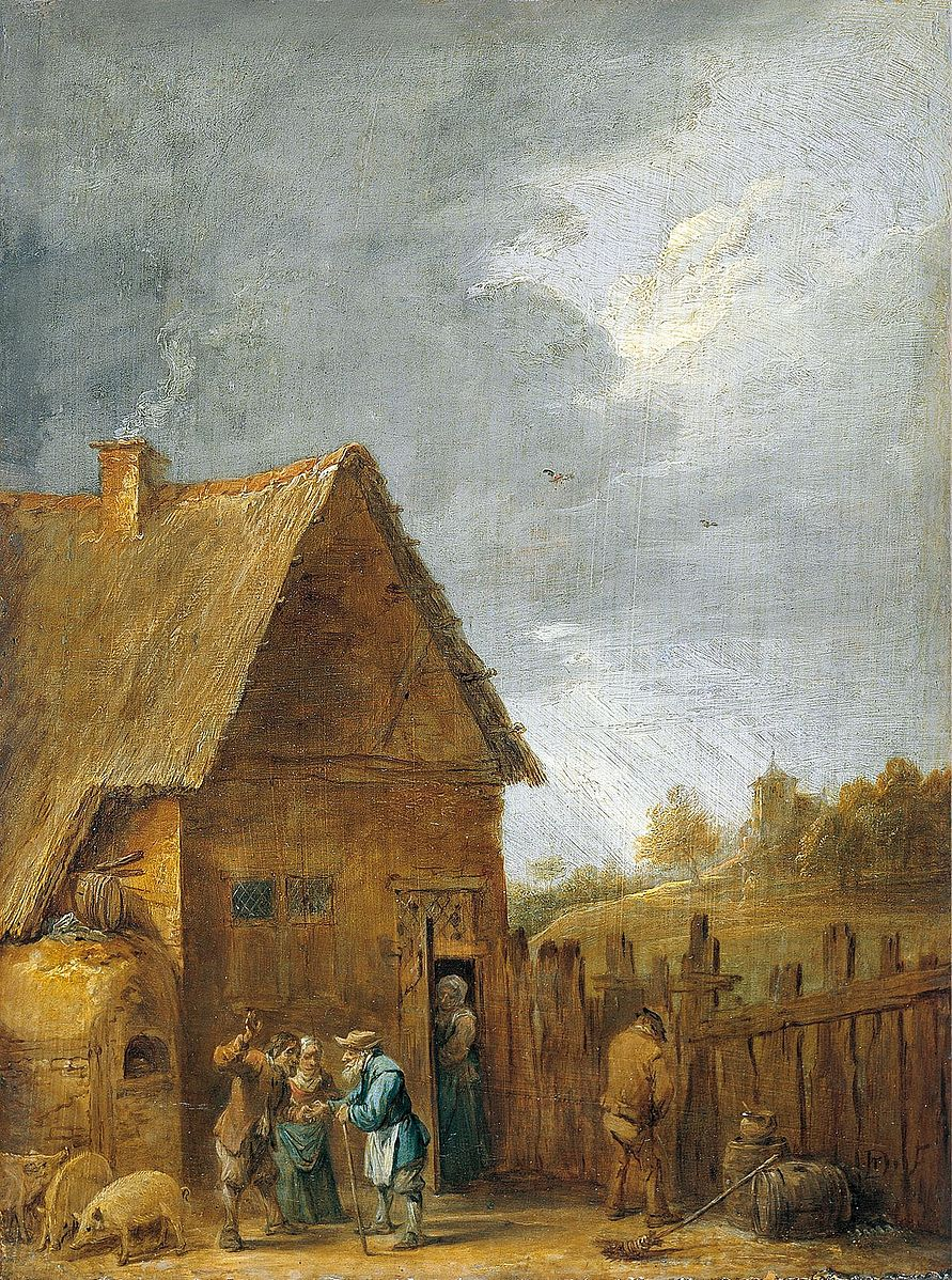 Yard of Peasant House (1640s) by David Teniers the Younger. The Hermitage (St. Petersburg, Russia).