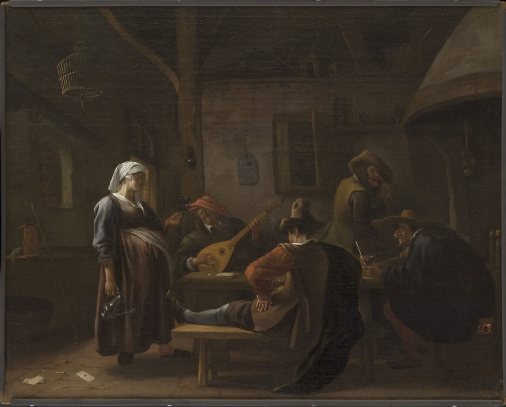Tavern Scene with a Pregnant Hostess (c. 1670) by Jan Steen. Philadelphia Museum of Art (Philadelphia, PA).