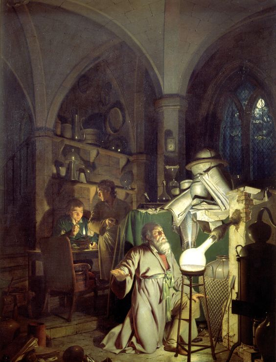The Alchemist    (1771) by Joseph Wright of Derby. Derby Museum and Art Gallery (Derby, UK).