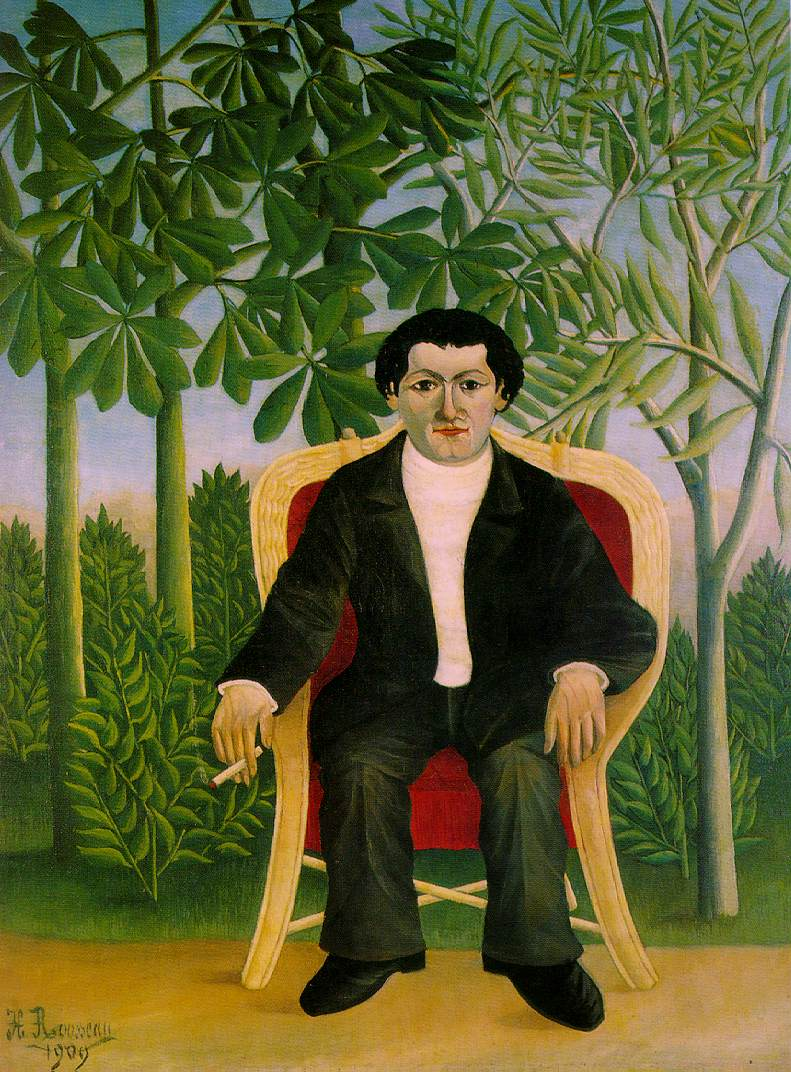 Portrait of Joseph Brummer  (1909) by Henri Rousseau. Private Collection.