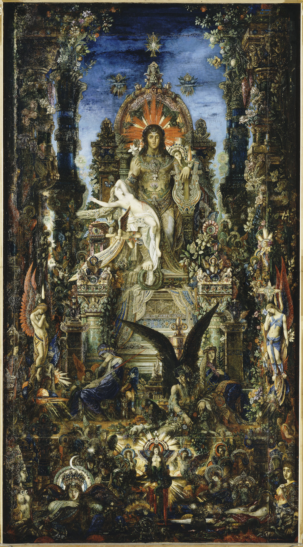 Jupiter and Semele  (1894-1895) by Gustave Moreau. Musée Gustave Moreau (Paris, France).