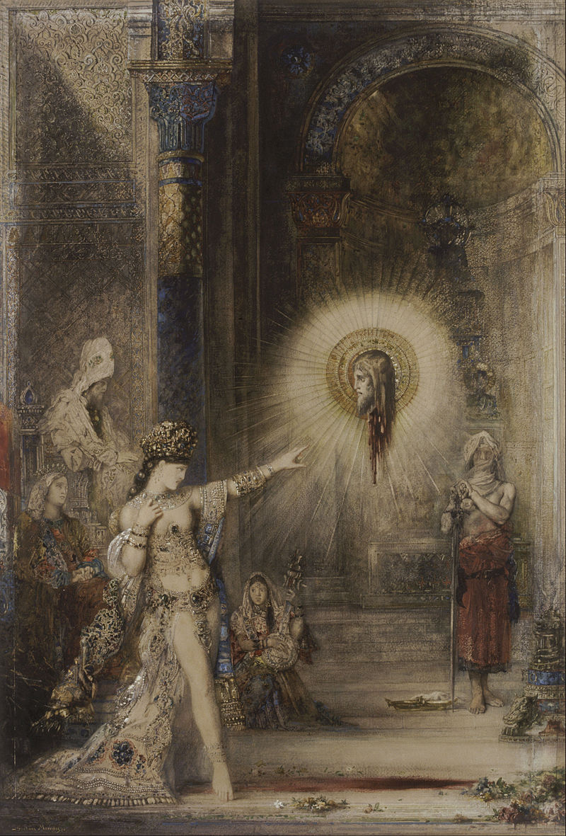 The Apparition  (1876) by Gustave Moreau. Musée d'Orsay (Paris, France).