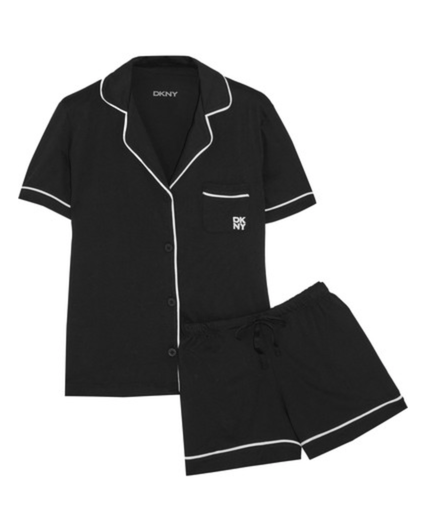 DKNY - Signature cotton-blend jersey pajama set$60