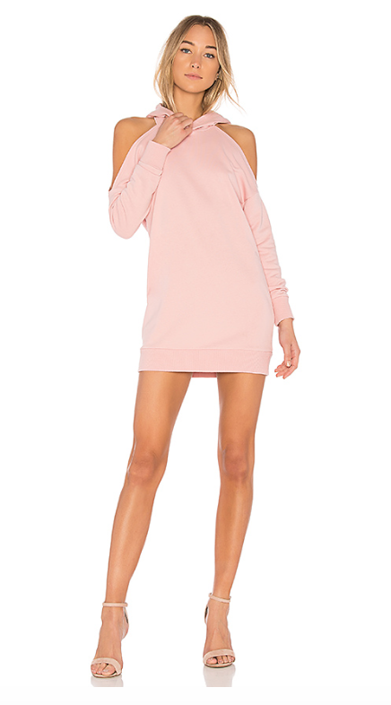 Sweater dresses - By The Way Delia Cold Shoulder Sweatshirt Dress in rose, $88.80, Delia Sweatshirt Dress