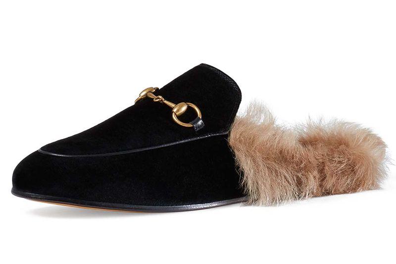 Fur Mules - Inspired by the Gucci Velvet Slippers, Princetown velvet slipper