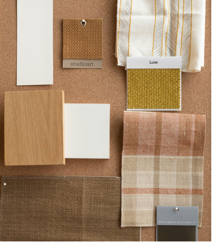 - fabric, paint and material swatches specific to your project