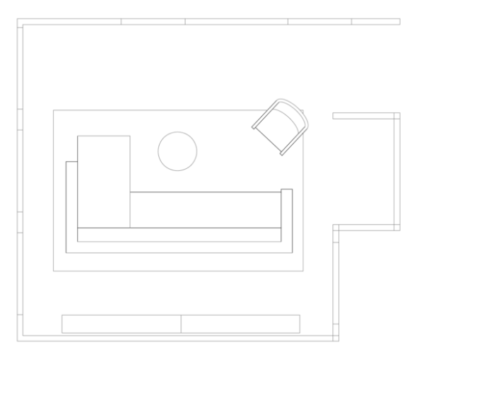 - a detailed floorplan