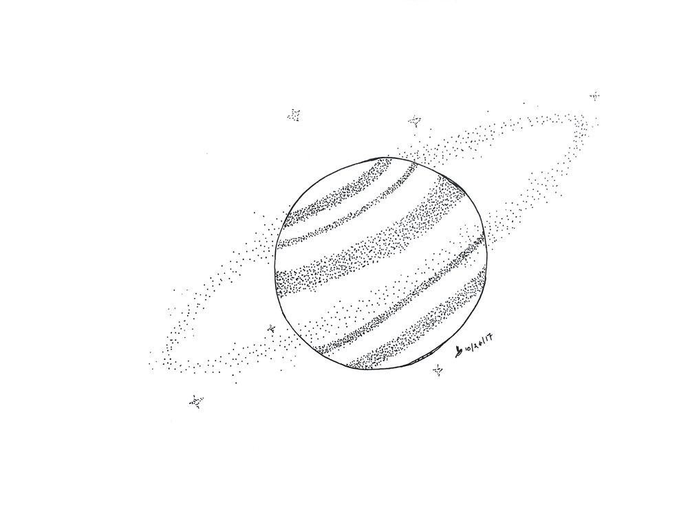 Space Daze rough sketch