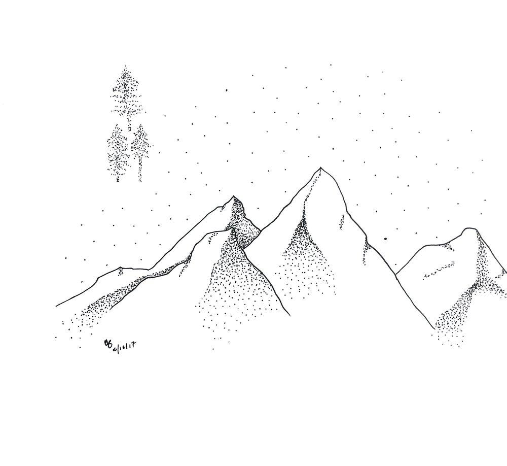 Mountain Sky rough sketch