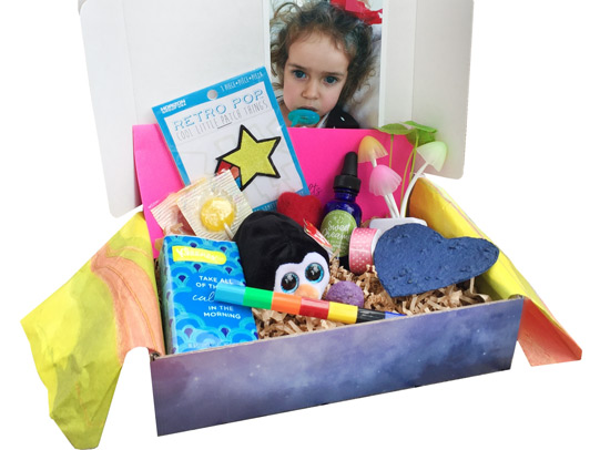 Bye Bye Binkie BoxSaying goodbye to a favorite pacifier can be traumatic for a child. Help them feel better with a bounty of goodies as well as a special beanie baby binkie bearer. - $34.95