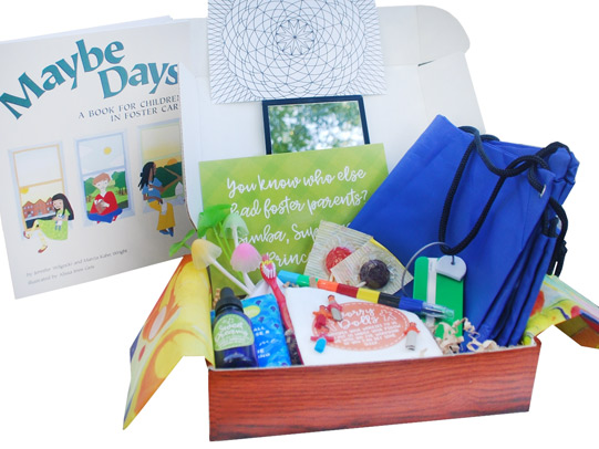 Foster Kid BoxMoving from house to house without a secure home can be the most difficult time for a child. The Foster Kid box includes special goodies like a getting-ready mirror, a go bag, and a sweet dreams elixir so every pillow smells like home. - $39.95