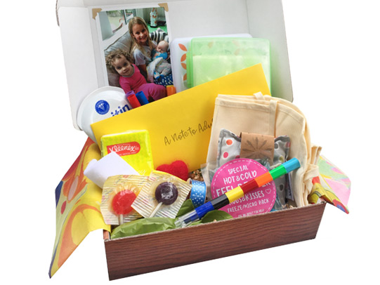 Suddenly Sibling BoxGetting a new sibling is a huge change in a child's life. Help them cope and celebrate with a box of cool things like a helper apron with paint markers and pockets full of goodies. - $34.95