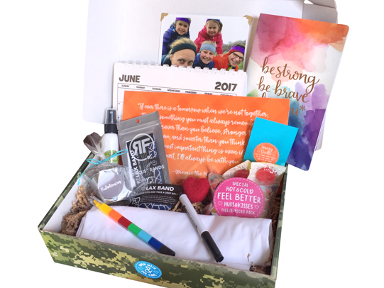 Warrior Kid BoxKids can have a hard time dealing with the illness of a loved one. This box is filled with healing goodies like a focusing band, a feel better kit, and a custom pillow case to color. - $44.95