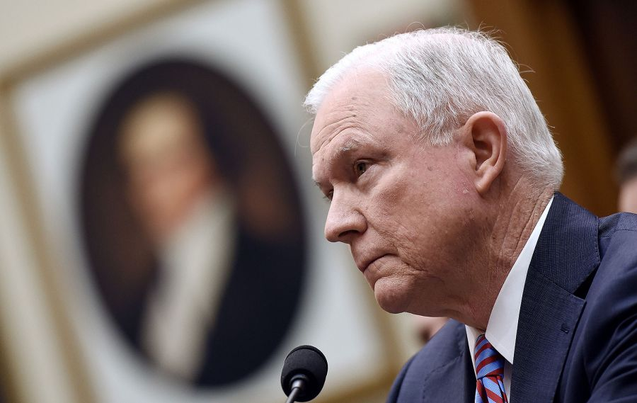 U.S. Attorney General Jeff Sessions testifies during a hearing before the House Judiciary Committee on Nov. 14, 2017 in Washington. OLIVIER DOULIERY/ABACA PRESS/TNS