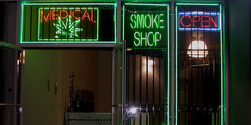 Medical marijuana dispensary on Ventura Boulevard in the San Fernando Valley—Los Angeles, California.