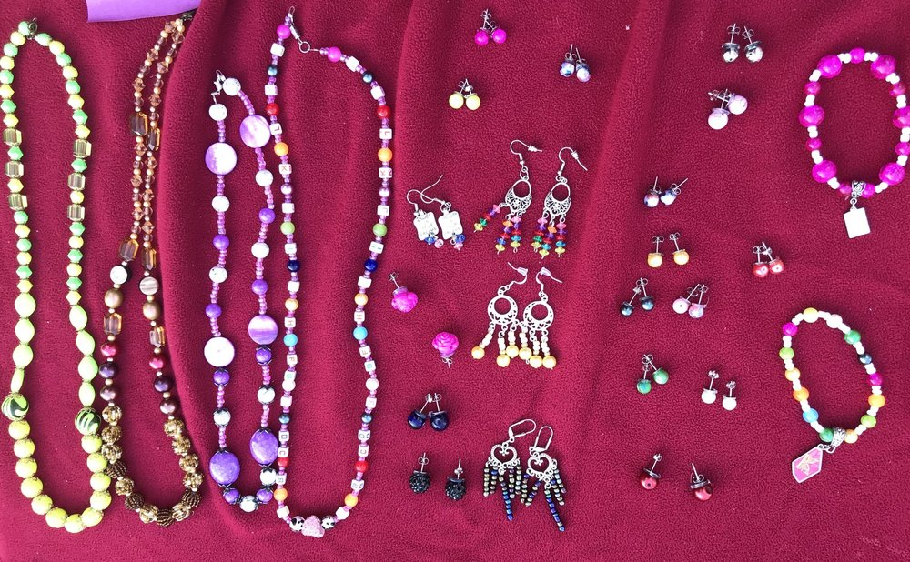 SABAH's JEWELRY designs - Sabah creates her own colorful jewelry with beads and other metal work. Perfect gifts for the sweetheart on your list!