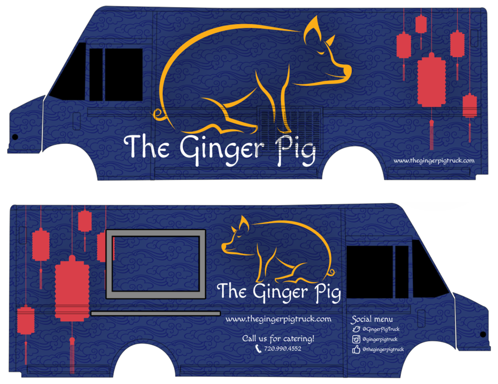 The Ginger Pig Food Truck Design by  Clytie Sadler