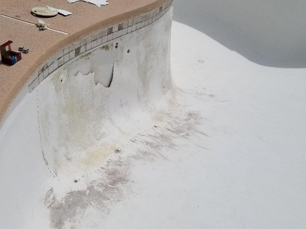 Pool Damage - Before