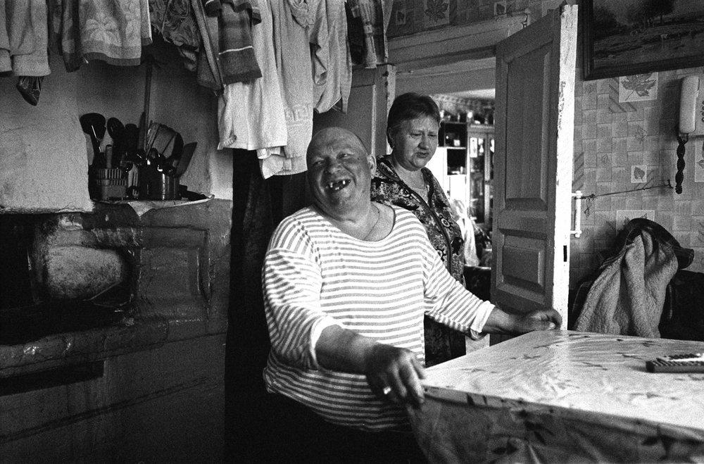 Village resident Uncle Pasha tells an anecdoteKolodozero, Karelia, Spring  2013