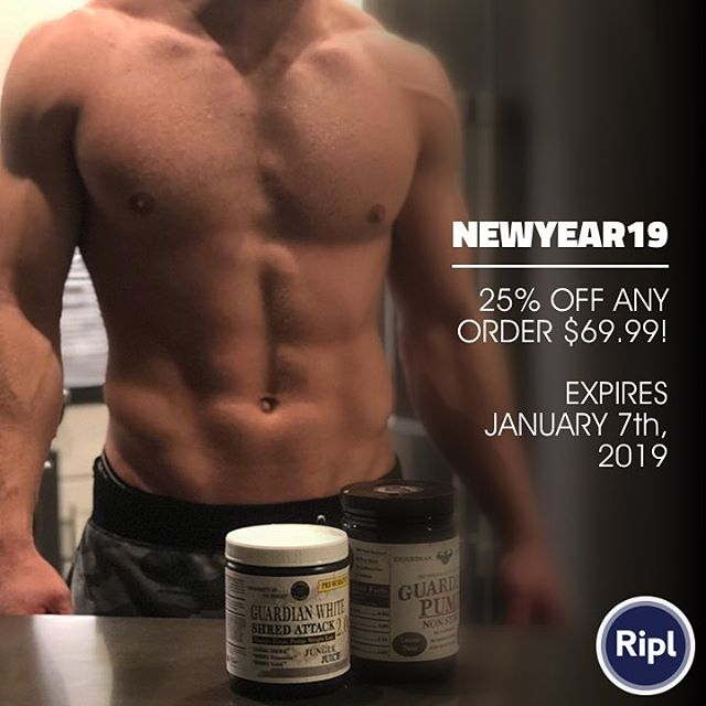 "Use code ""NEWYEAR19"" for 25% OFF any order over $69.99!! #train #training #ventura #oxnard #ojai #strong #fit #fitness #motivation #preworkout #athlete #beast #silverbacknutra #805 #deals #newyear"
