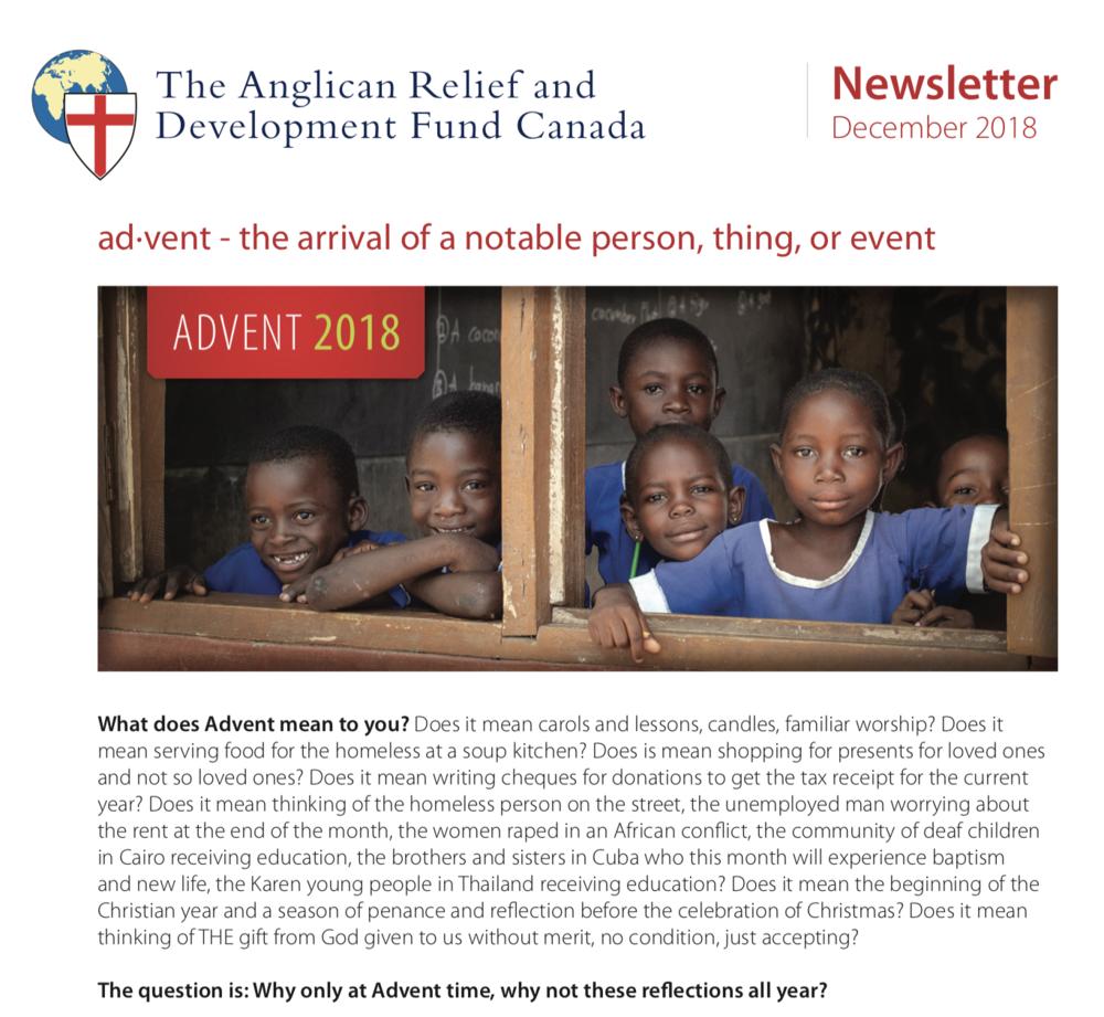 ARDFC Newsletter - December 2018