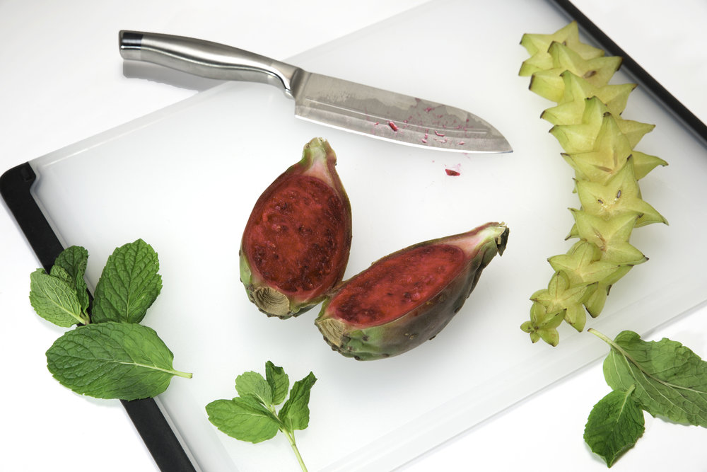 Cactus pear and star fruit