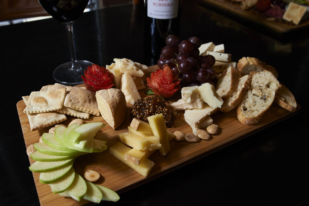 Cheese and fruit portion of the charcuterie at One Red Door (Hudson, OH).  Featured in Akronlife magazine.