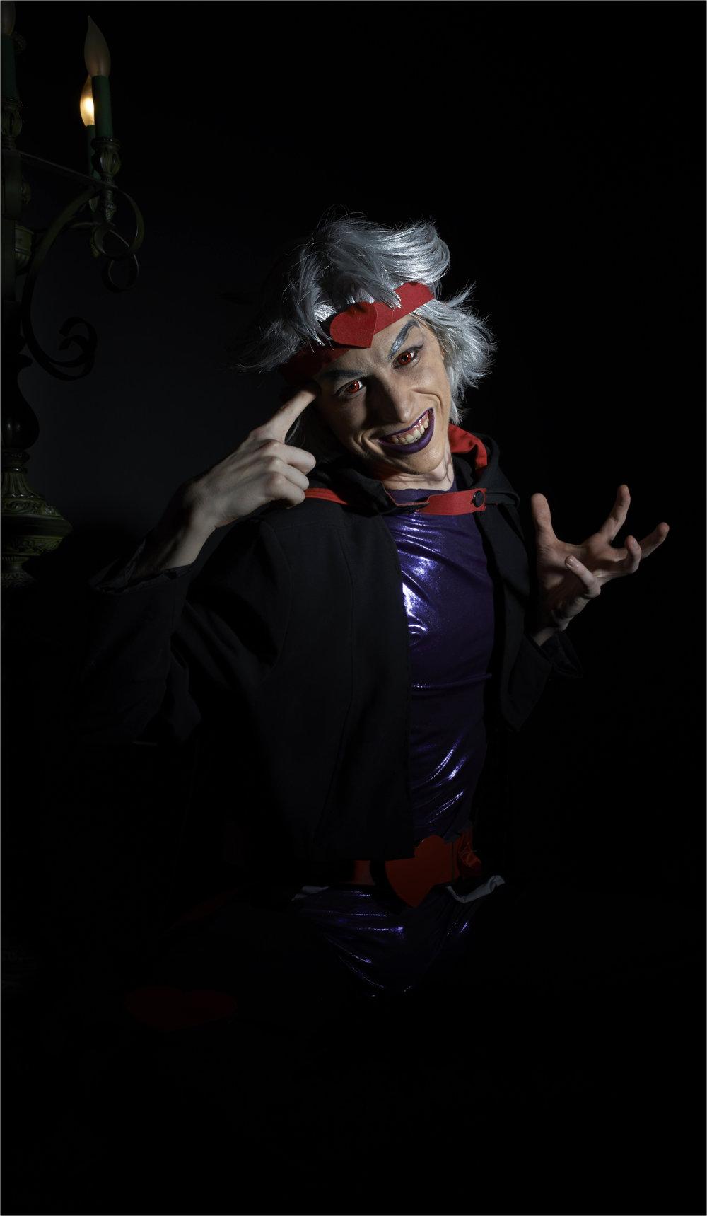 A friend modeling his cosplay of Dio Brando from JoJo's Bizarre Adventure.