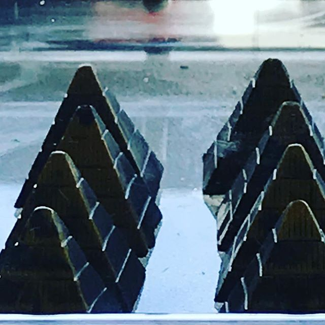 Pyramids of...chocolate!! Visit Carbon Chocolate to make your day just a little better 😊
