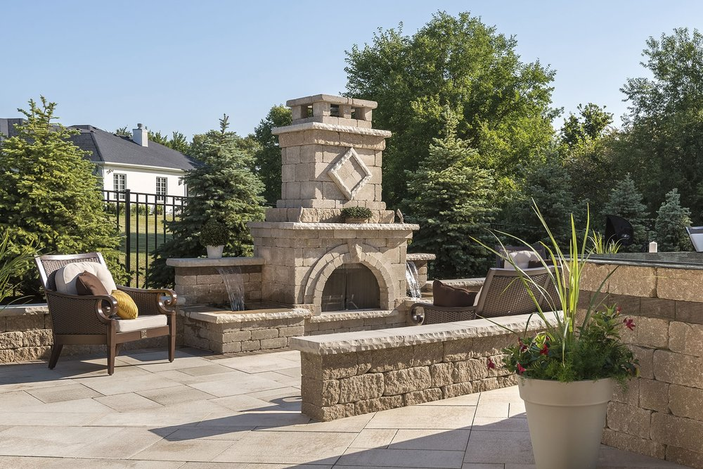 Professional outdoor fireplace design in Harrisburg Dauphin County PA