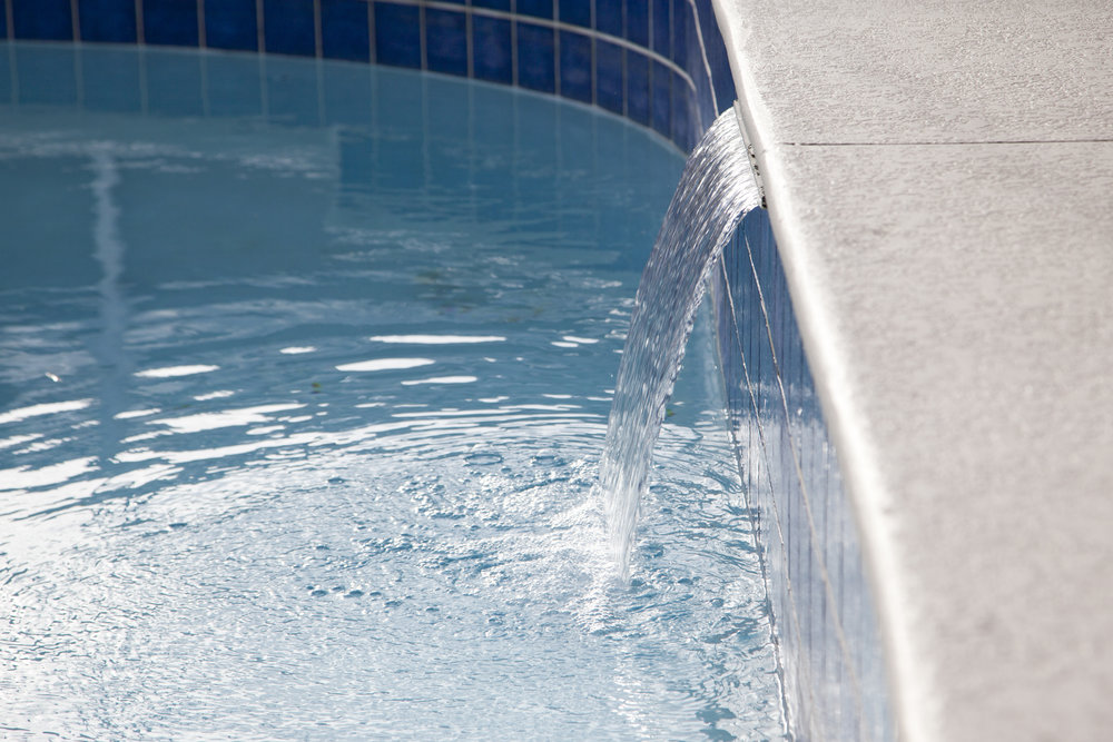 Adding a Water Feature to an Existing Swimming Pool in State College, PA