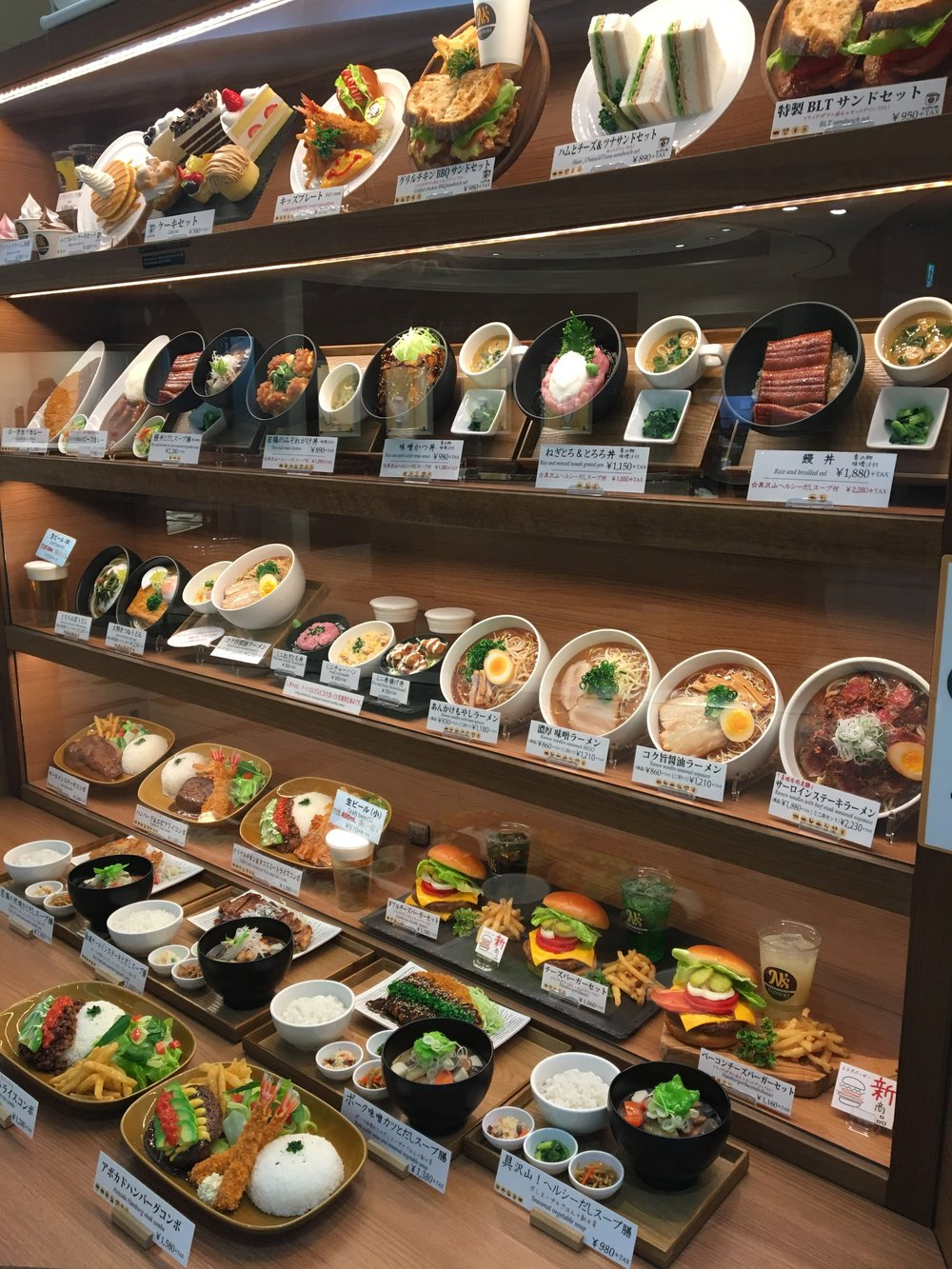 Plastic Food on Display, Narita/Tokyo International Airport