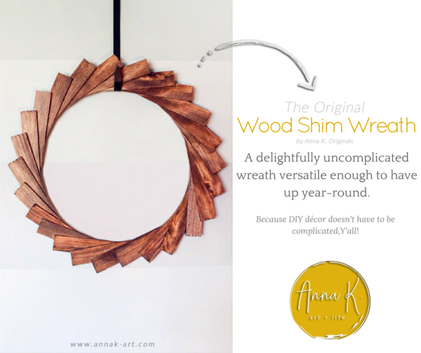 Wood Shim Wreath tutorial (updated)