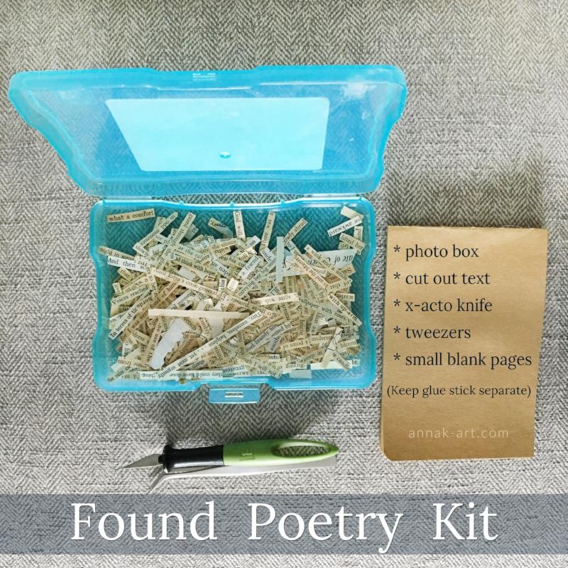 Found Poetry Kit, annak-art.com