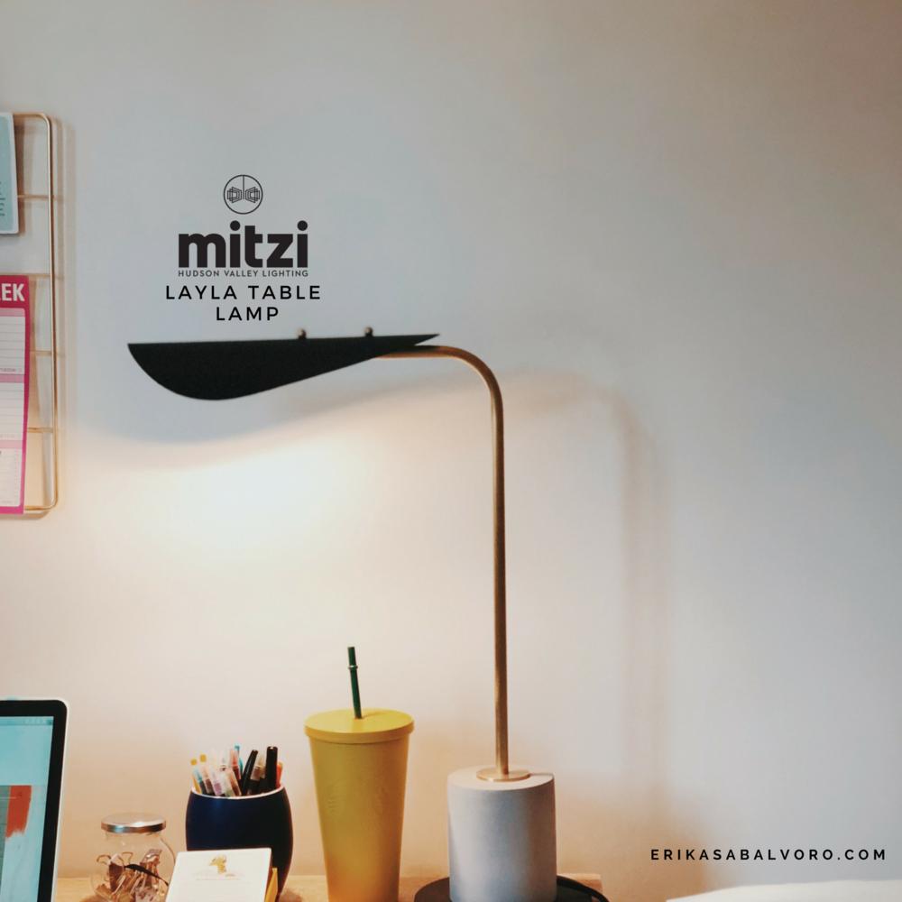 Layla Table Lamp - #MyMitzi x Eri Sabalvoro