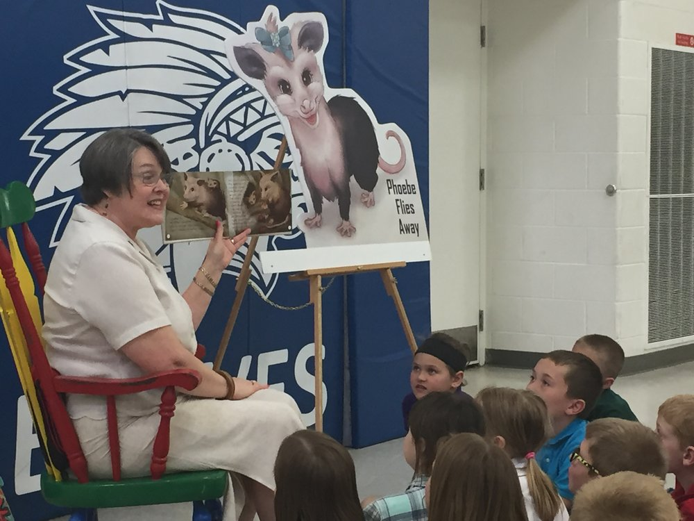 Co-Author of Phoebe Flies Away Miriam Hulett Reads to Childrens Delight.JPG
