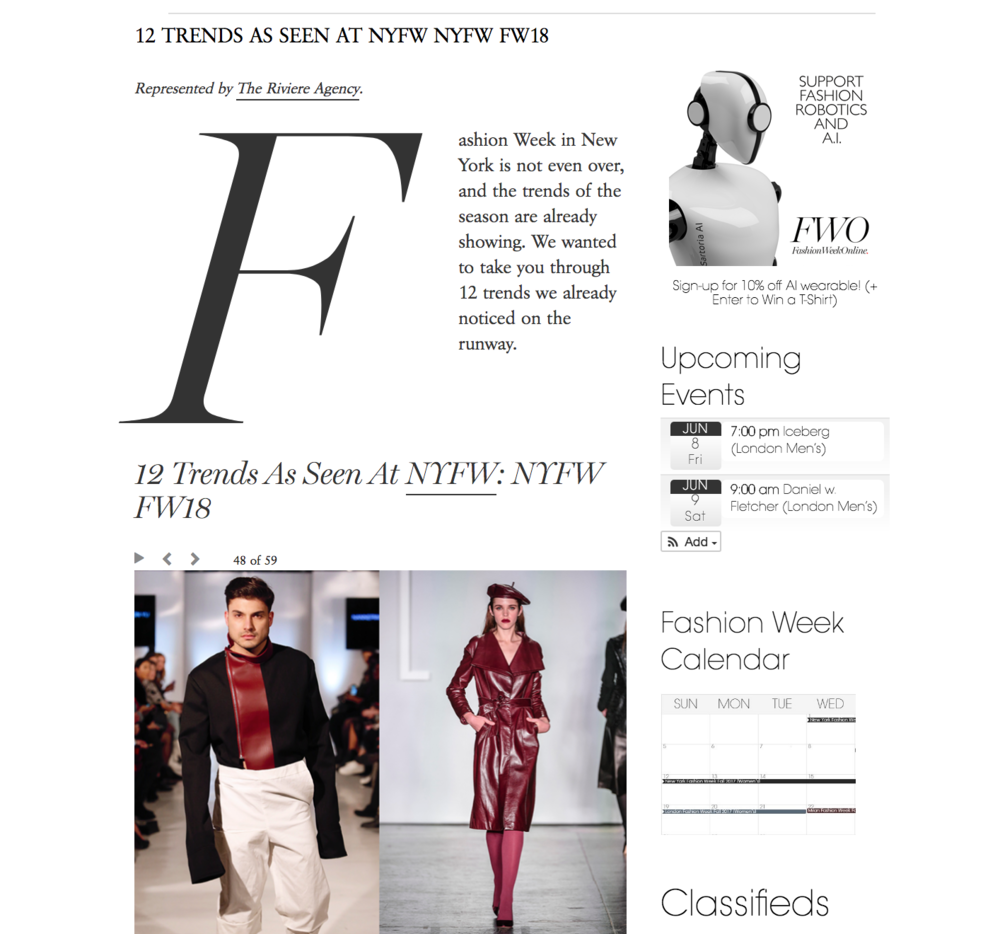 fashion week online - http://fashionweekonline.com/12-trends-seen-nyfw-fall-2018-new-york-fashion-week