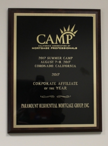 CAMP Corporate affliate of the year 2017